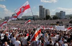 تظاهرات معترضان به نتیجه انتخابات در بلاروس