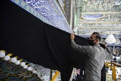 سیاه پوش شدن آستان حضرت عباس(ع) با نزدیک شدن به ماه محرم