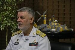 الأدميرال خانزادي يتفقد الأسطول البحري في جنوب البلاد