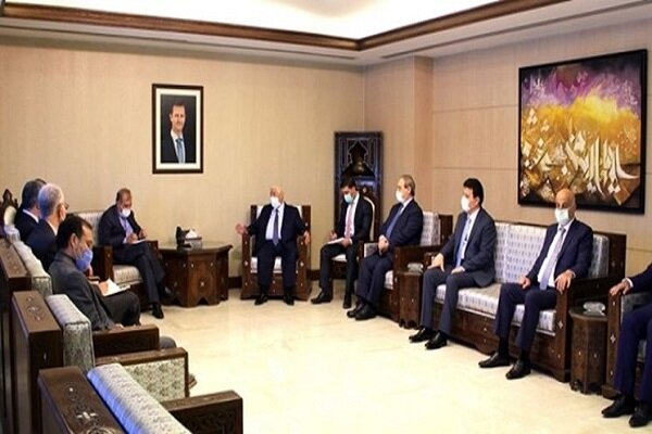 Khaji holds talks with Syrian Foreign Minister