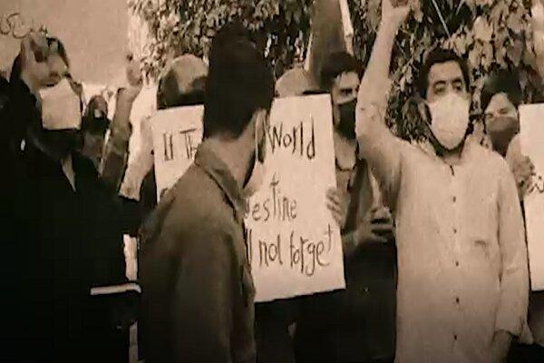 من أمام السفارة الإماراتية في طهران/ كلمة ممثل الطلبة الإيرانيين خلال إحتجاجهم على التطبيع