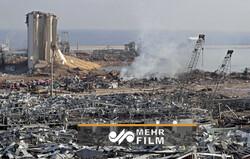 Beyrut'taki patlamanın bıraktığı yıkımdan son görüntüler