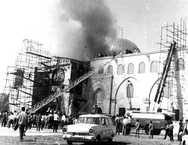 اطلاق حملة اعلامية بمناسبة ذكرى إحرق مسجد الأقصى