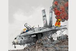 روایت کارتونی شجاعی طباطبایی از «زوال ترامپ» روی جلد مجله برزیلی