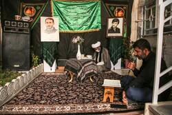 مدافع حرم شہید کے گھر میں مجلس عزا منعقد