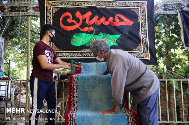 مراسم عزاداری محرم بارعایت شیوه نامه ها در مازندران برگزار می شود