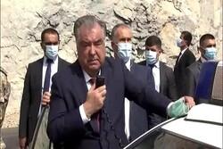 رئیس جمهور تاجیکستان با بلندگو به مردم افغانستان وعده کمک داد