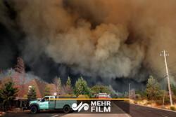 آتشی سرکش که اهالی شمال کالیفرنیا را فراری داد