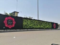بزرگترین پرچم عزای حسینی در شهر صومعهسرا نصب شد