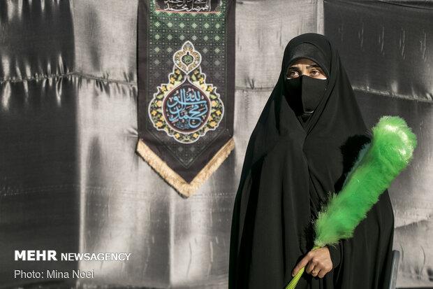 عزاداری اولین روز محرم در محوطه باز مصلی تبریز