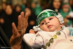 Hosseini Infants Ceremony marked in Hazrat Masoumeh Mausoleum