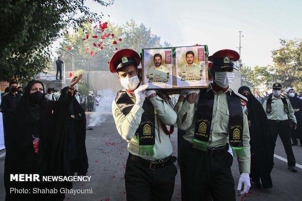 مراسم تشییع پیکر شهید حامد ضابط