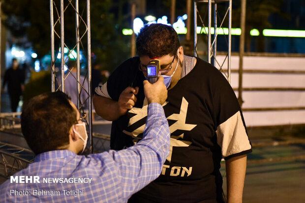 عزاداری شب اول محرم در میدان امام حسین(ع)