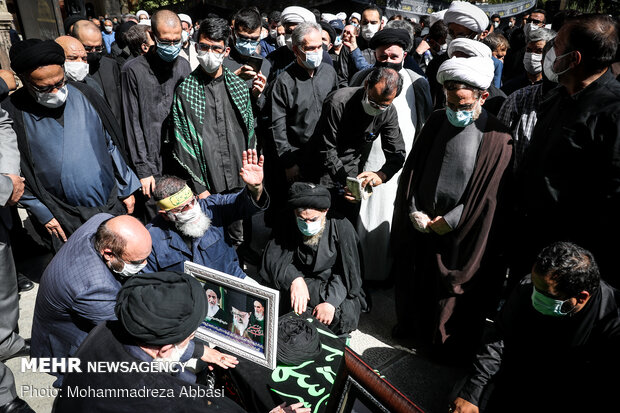 مراسم تشییع پیکر آیت الله سید عبدالجواد علم الهدی