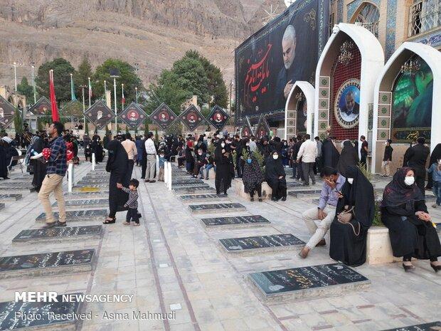 Şehit Süleymeni'nin mezarı başında Muharrem merasimi düzenlendi
