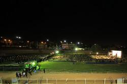 برگزاری مراسم عزاداری در ورزشگاه بزرگ تختی شهرکرد