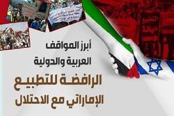 المواقف العربية والدولية الرافضة للتطبيع الإماراتي (إنفوغراف)