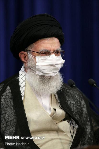 Ayatollah Khamenei's meeting with president, cabinet members