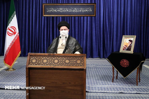 سخنرانی رهبر انقلاب در ارتباط تصویری با جلسه هیئت دولت