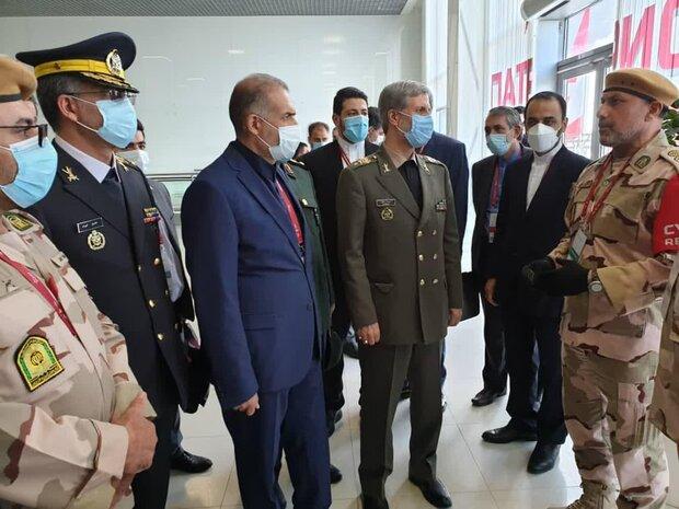 العميد حاتمي يلتقي الفريق الايراني المشارك في المسابقات العسكرية في روسيا