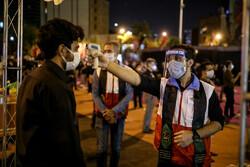 اقامة المراسم العاشورائية في ليلة الخامس من شهر محرم في ساحة فلسطين بطهران / صور