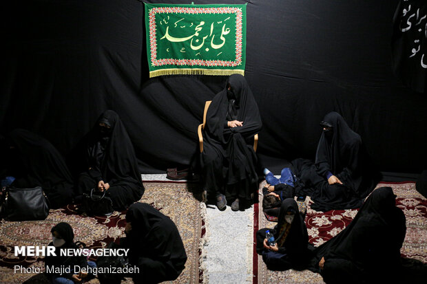 Mourning ceremony on 4th night of Muharram in Yazd