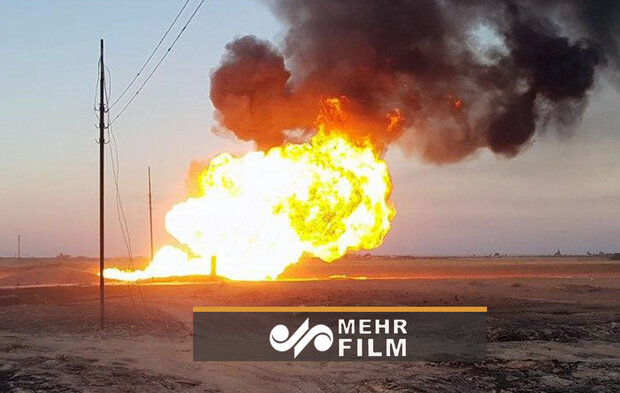 VIDEO:Firefighters extinguish gas pipeline explosion in Syria