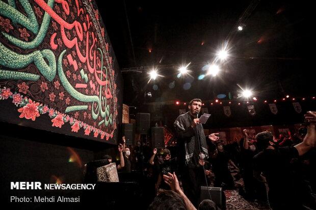 مراسم عزاداری شب چهارم محرم در هیئت ثارالله زنجان