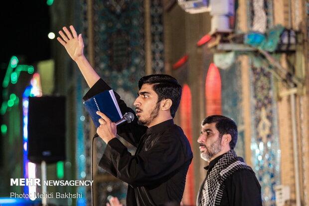 مراسم عزاداری شب چهارم محرم هیئت فاطمیون قم در مسجد جمکران