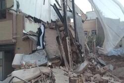 ریزش ساختمانی در تبریز بر اثر گودبرداری غیراصولی