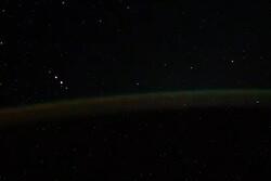فضانورد روس ویدئویی از نورهای عجیب در شفق قطبی منتشر کرد