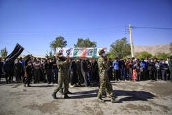 سرباز شہید محمد رضا اسکندری کی تشییع جنازہ