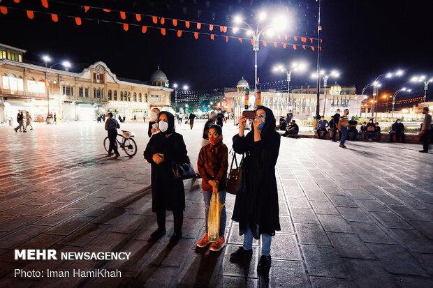 "Displaying Ashura narrations using ""Video Mapping"" in Hamedan"