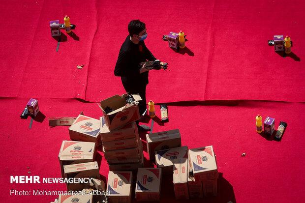 توزيع حزمات الطعام بمناسبة شهر محرم