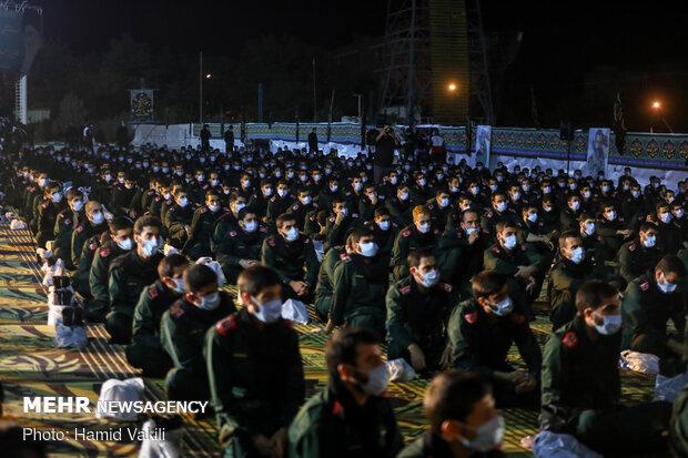 عزاداری شب ششم محرم در دانشگاه افسری امام حسین(ع)