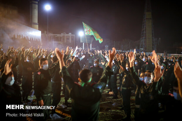 مراسم العزاء الحسيني في جامعة الامام حسين (ع) للضباط