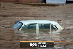 باران و سیلاب شدید تابستانی در روستاهای بیرجند