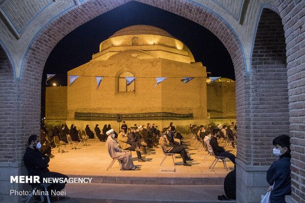 عزاداری شب ششم محرم در مسجد کبود تبریز