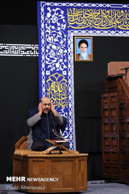 اولین شب مراسم عزاداری حضرت اباعبدالله الحسین (ع) در حسینیه امام خمینی(ره)