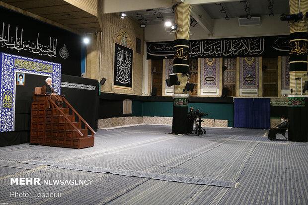 اولین شب مراسم عزاداری اباعبدالله (ع) در حسینیه امام خمینی(ره)