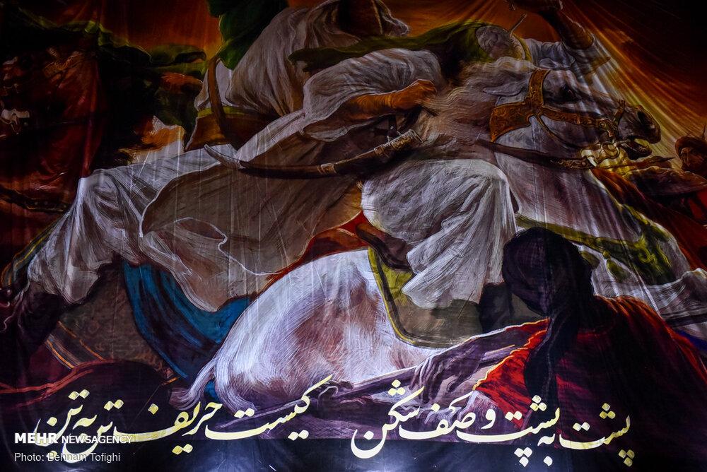 مروریبر دیوارنگارههای محرمی پایتخت/ نقشهایی که بر دل نشستند