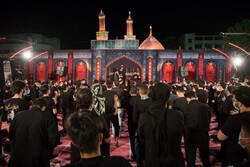 Tahran'daki 7. gece Muharrem merasimleri