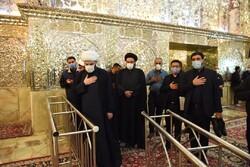 رئیس سازمان تبلیغات اسلامی به زیارت حرم شاهچراغ(ع) رفت
