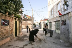 إزقة المدينة تستعد لإقامة العزاء الحسيني/ صور