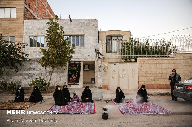 إزقة المدينة تستعد لإقامة العزاء الحسيني