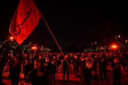 انجمن مکتب الزہرا(س) میں محرم ک آٹھویں شب میں مجلس عزا