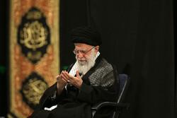 اقامة مراسم العزاء الحسيني بحضور قائد الثورة الاسلامية للیلة الثالثة