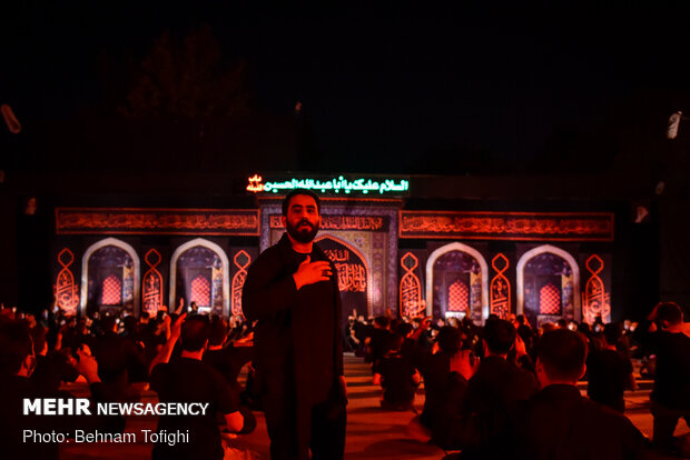 Tehraners gather in a garrison to mark 8th night of Muharram