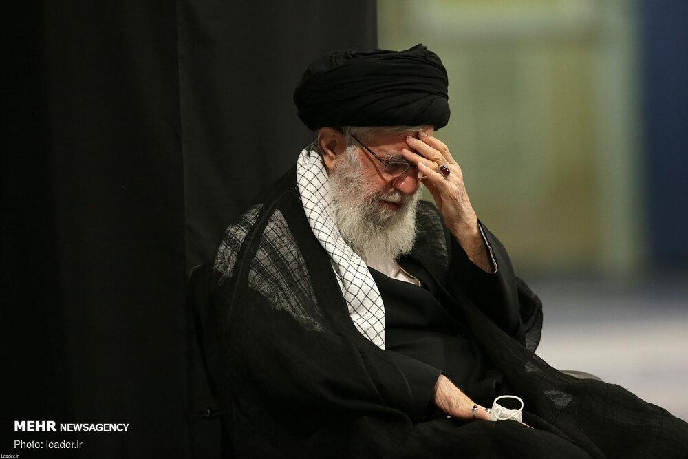 آخرین شب مراسم عزاداری اباعبدالله(ع) با حضور رهبر انقلاب