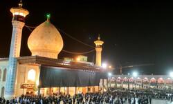 شیراز میں حرم مطہر شاہچراغ میں عزاداری کا سلسلہ جاری